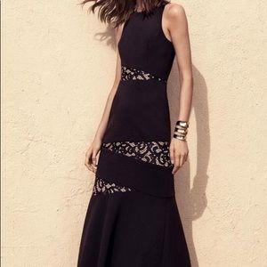 BCBGMaxAzria Dominque Black Lace Gown